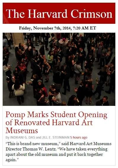 IMAGE- Harvard art museum director: 'This is brand new museum.'