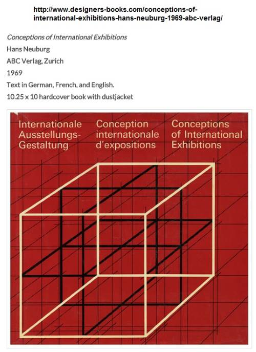 IMAGE- Dust jacket, 'Conceptions of International Exhibitions,' by Hans Neuburg, ABC Verlag, Zurich, 1969