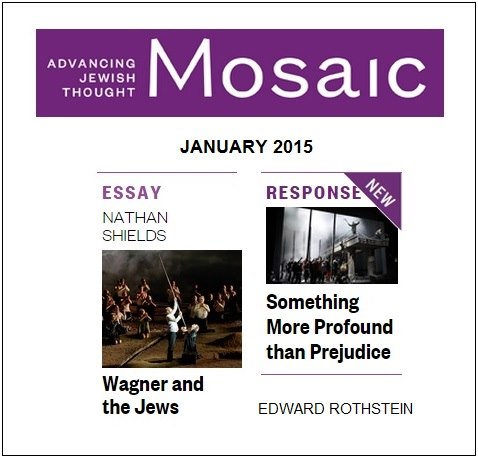 IMAGE- Two essays from Mosaic magazine on Wagner and the Jews