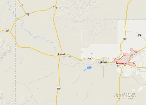 IMAGE- Map of northwest New Mexico
