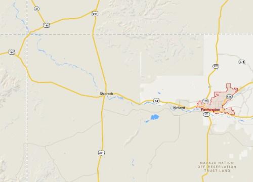 IMAGE- Map of northwest New Mexico