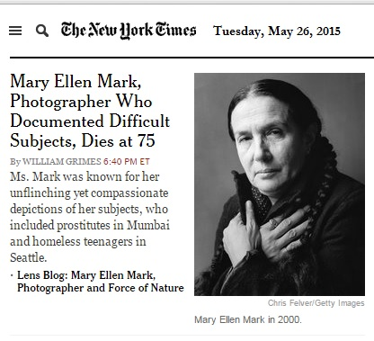 Mary Ellen Mark obit