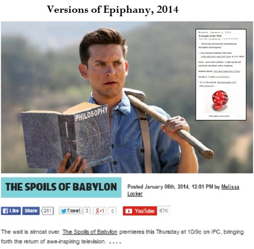 Epiphany 2014 piece on TV miniseries 'Spoils of Babylon'