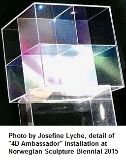 Sculpture by Josefine Lyche of Cullinane's eightfold cube at Vigeland Museum in Oslo