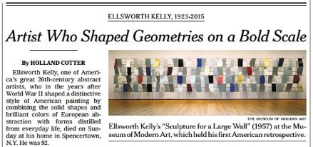 'Artist Who Shaped Geometries on a Bold Scale' - NY Times