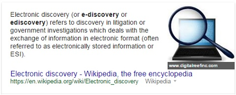 Definition of 'ediscovery'