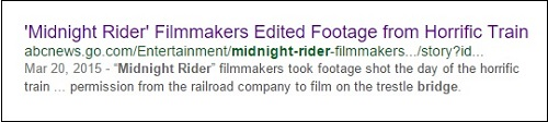 'Midnight Rider' filmmakers and the bridge
