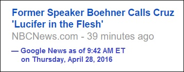 A politician as 'Lucifer in the flesh'