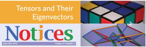 Rubik cube in the heading of the homepage of the Notices of the American Mathematical Society