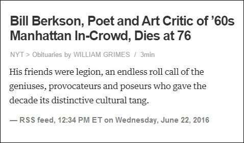 NYT 'distinctive cultural tang' obituary