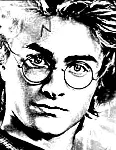Harry Potter with lightning-bolt scar