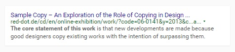 On Kate Cullinane's book 'Sample Copy' - 'The core statement of this work...'