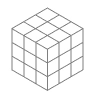 3x3x3 Galois cube, gray and white