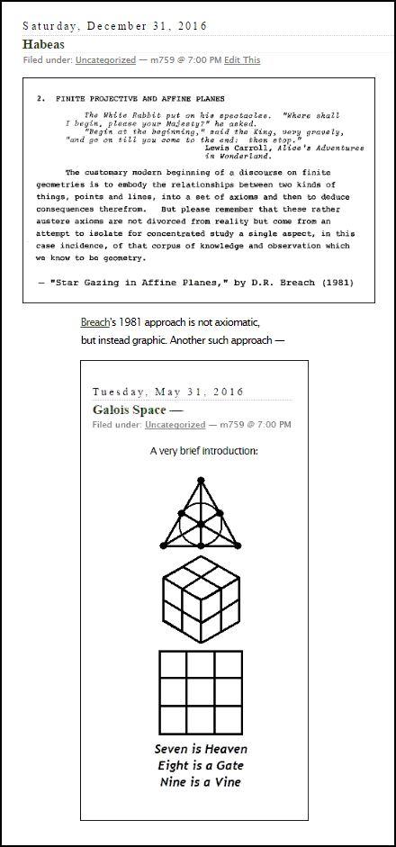 Axioms vs. constructions in finite geometry