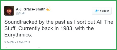 'Currently back in 1983' Tweet from Feb. 1, 2017