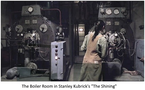 The boiler room from Kubrick's 'The Shining'