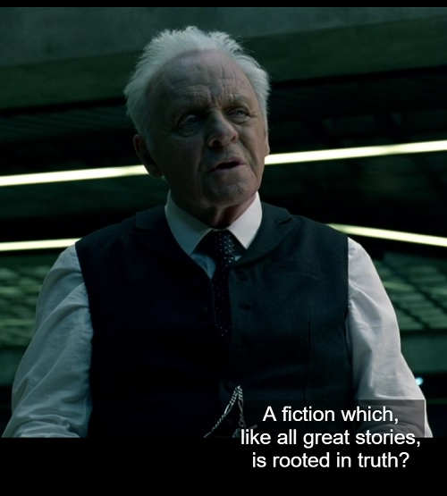 Westworld S1E3 23:15- Dr. Ford on fiction
