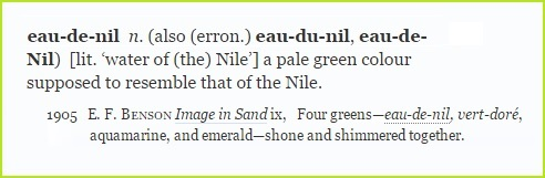 Shades of green: eau-de-nil
