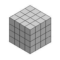 4x4x4 gray cube