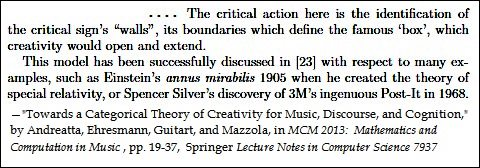 Guitart et al. on 'box' theory of creativity