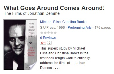 'What Goes Around Comes Around: The Films of Jonathan Demme'