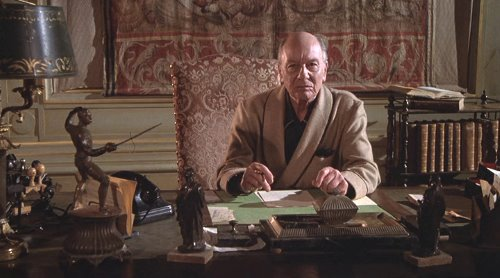 John Gielgud as 'Abraham Esau' in 'The Formula' (1980). For the real Abraham Esau, see Wikipedia.