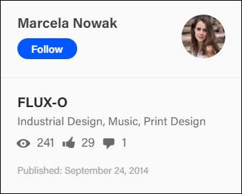 Marcela Nowak, FLUX-O project at Behance.net, Sept. 24, 2014