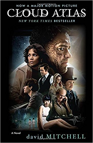 'Cloud Atlas' book cover illustrating the film