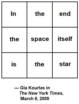 'In the end the space itself is the star'— Gia Kourlas