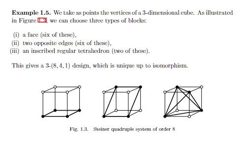 Steiner quadruple system in eightfold cube