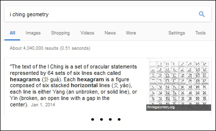 I Ching Geometry search result