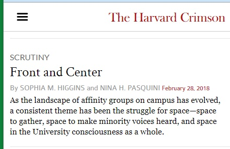 'Front and Center'— affinity groups and space in the Harvard Crimson