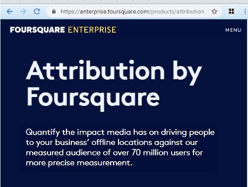 Attribution by Foursquare — 'Quantify the impact media has....'