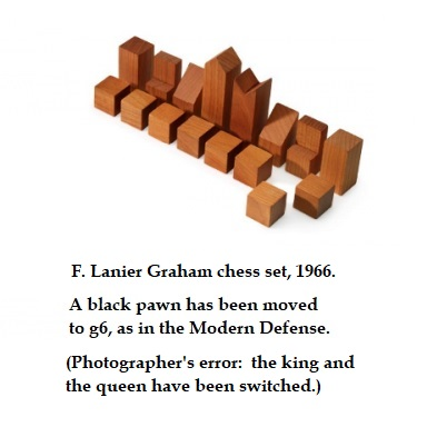 F. Lanier Graham chess set (king-queen arrangement by the Wachowskis)