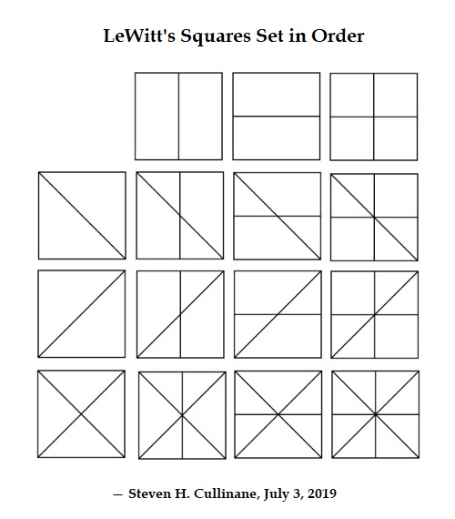 Disorder Ordered: LeWitt's 'Straight Lines in Four Directions' Rearranged