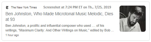 News article related to 'just intonation'