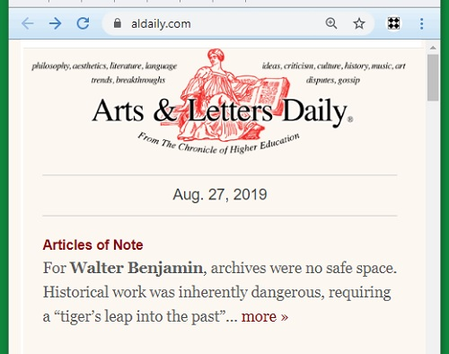 Walter Benjamin on 'a tiger's leap into the past'