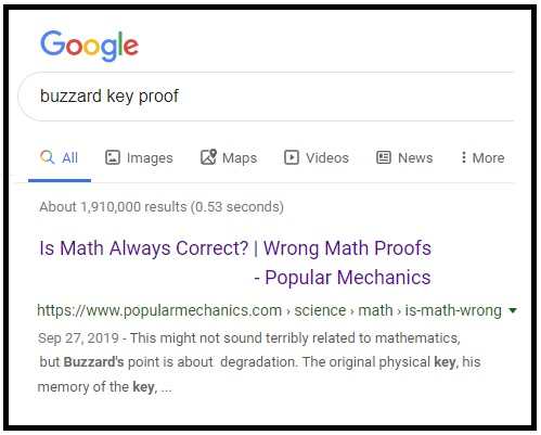 Google search for 'buzzard key proof'