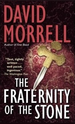 Dagger on cover of  Morrell's 'The Fraternity of the Stone'