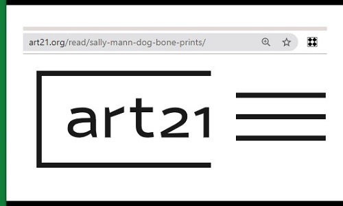 Art21 web page on dog bone art