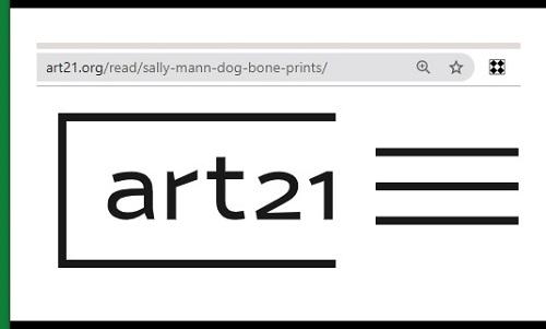 Art21 web page on dog bone art