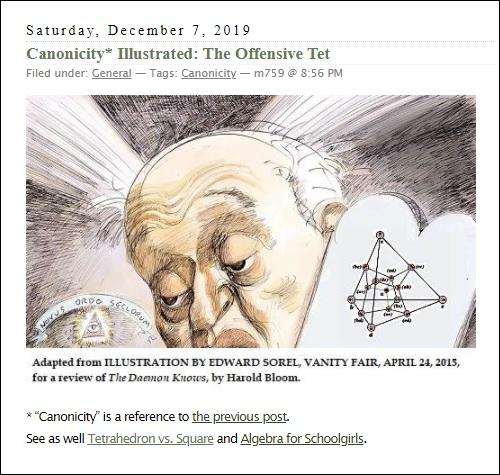 Novus Ordo Seclorum — Harold Bloom and the Tetrahedral Model of PG(3,2)
