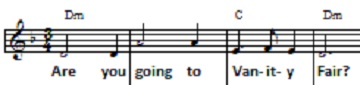 Vanity Fair sheet music