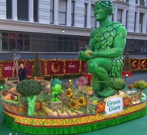 Jolly Green Giant in Macy's Thanksgiving Day Parade, 2020