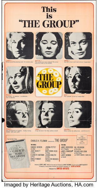 3x3 array, title in center, for film 'The Group'