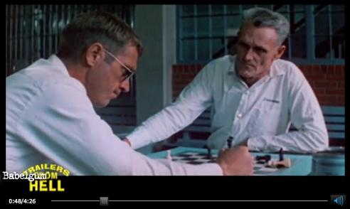 Steve McQueen plays chess in 'The Getaway'