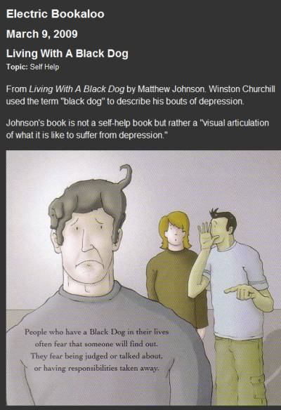 IMAGE- Man with the black dog of depression on his head