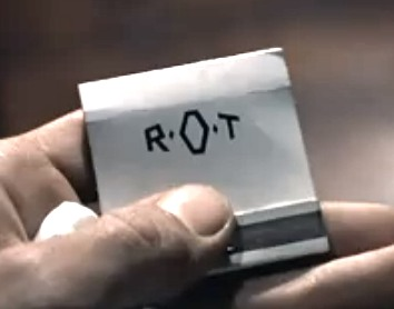IMAGE- Roger O. Thornhill's monogrammed 'ROT' matchbook in 'North by Northwest'