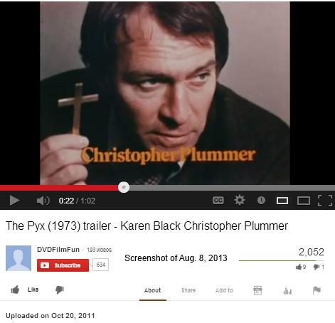 IMAGE- Christopher Plummer in 'The Pyx' (1973), starring Karen Black